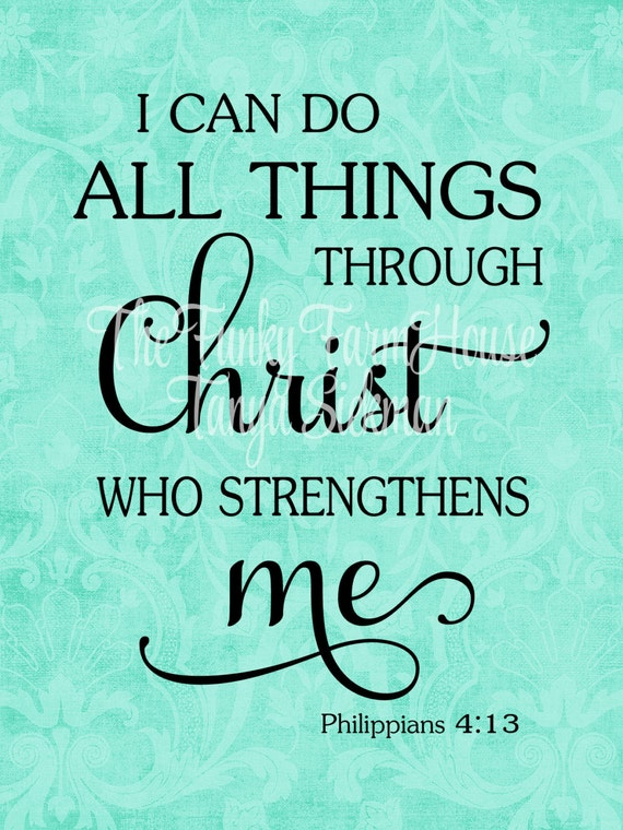 SVG, DXF & PNG - I can do all things through Christ who strengthens me