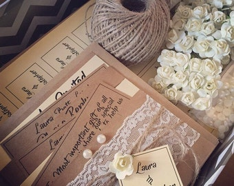 DIY Wedding Invitation kits....complete set of 80