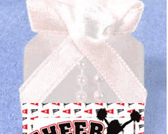 Cheerleader Party Favor Do It Yourself Mini Bubbles Stickers/Labels Kit