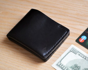 Bifold Wallet in Horween Black Chromexcel leather