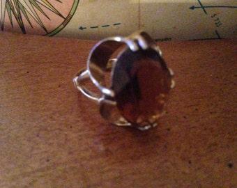 Vintage Faux Topaz Ring 1960's