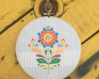"Embroidery ""Folk Flower"" Hoop"