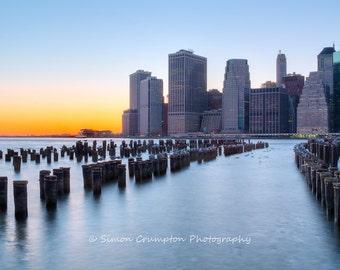 Manhattan Skyline at Sunset - New York - United States - Landscape - Fine Art Print