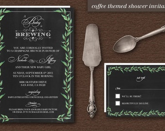Baby is Brewing!  - Baby Shower Invitations - 25 Qty