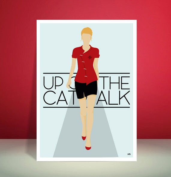 Simple Minds // Up On The Catwalk // Minimalist Poster // Unique A3 Art Print