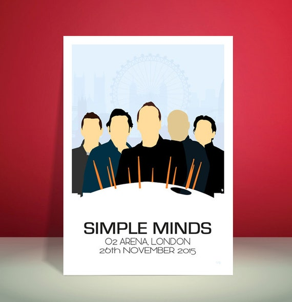Simple Minds // O2 Arena, London 26.11.2015 Tour Poster // Unique A3 Art Print