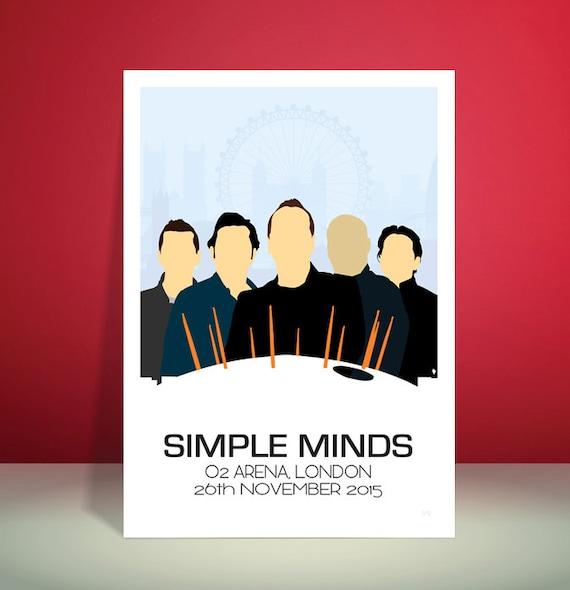 Simple Minds // O2 Arena, London 26.11.2015 Tour Poster // Unique Art Print