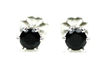 Black Onyx Earrings Sterling Silver Studs Small Onyx Earrings Round Onyx Post Earrings 925 Round Onyx Studs 4MM Onyx Gemstones Onyx Jewelry