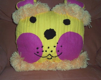 Child's crazy and fun lion cushion or pillow