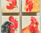 Four Roosters