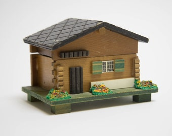 Swiss Chalet Music Box Made in Japan