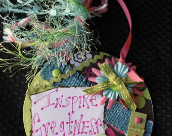 Inspire Greatness   Altered CD - Wall Decor / Magnet