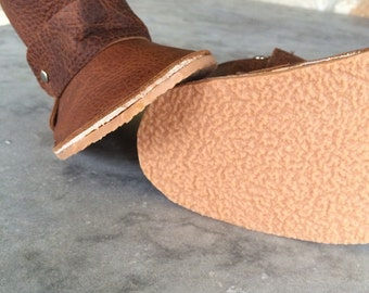 Crepe Rubber Sole, not actual moccasins