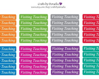Visiting Teaching Planner Stickers, LDS Journal/Planning stickers