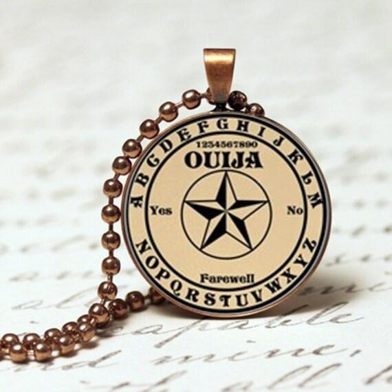 ouija board mystical occult pendant necklace