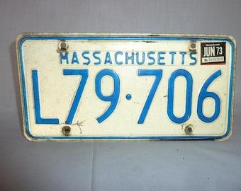 Vintage 1973 Massachusetts License Plate