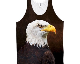 Bald Eagle Men's All-Over Tank Top (Made in the USA)
