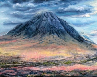 The Guardian of Glencoe print, Buachaille Etive Mor mountain in the Scottish Highlands, Father Day Gift idea, boyfriend gift