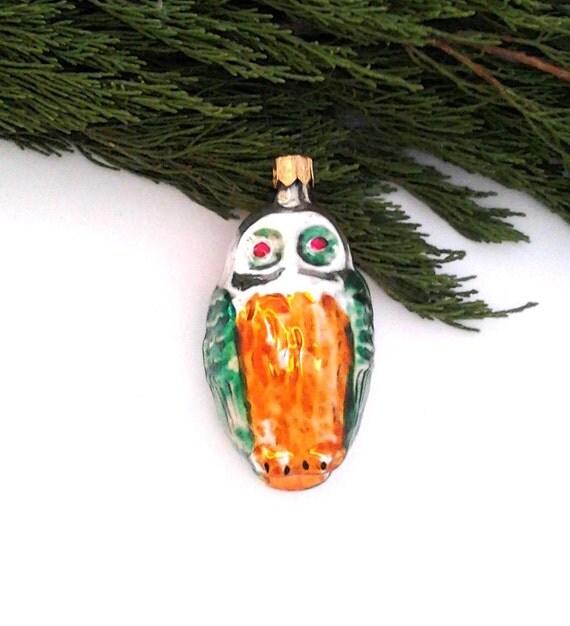 Christmas Tree Decoration Owl : Owl vintage soviet glass christmas tree decoration
