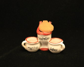 Vintage Toilet Ashtray Cigarette Pot Tobacco Smoker Gift Novelty Ashtray Humor Match Stick Holder Ashes