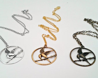 Mockingjay Necklace; Katniss Necklace
