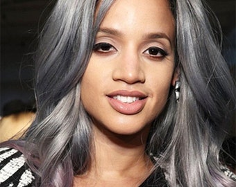 Brazillian gray  human hair weft grey hair extensions new arrival silver grey hair weaving grey hair bundles