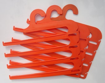 70s Plastic Hangers // Orange // Set of 3 // Flovi // Made In Denmark