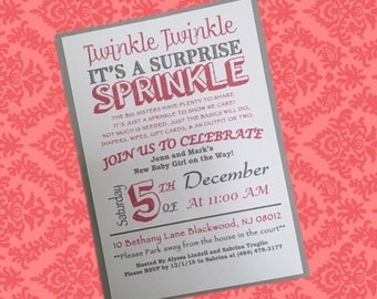 Twinkle Twinkle, its a Sprinkle Shower Invitations