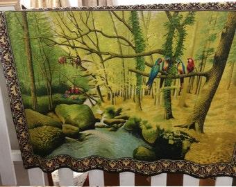 Vintage Parrot Tapestry