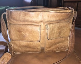 Vintage Leather Hipster Hobo Purse