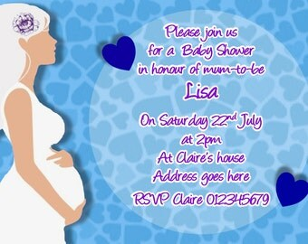 Printed Personalised Baby Shower Party Invitations x10