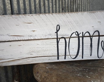 Home sign, rustic decor, wedding gift, living room decor, country home sign, upcycled, repurposed