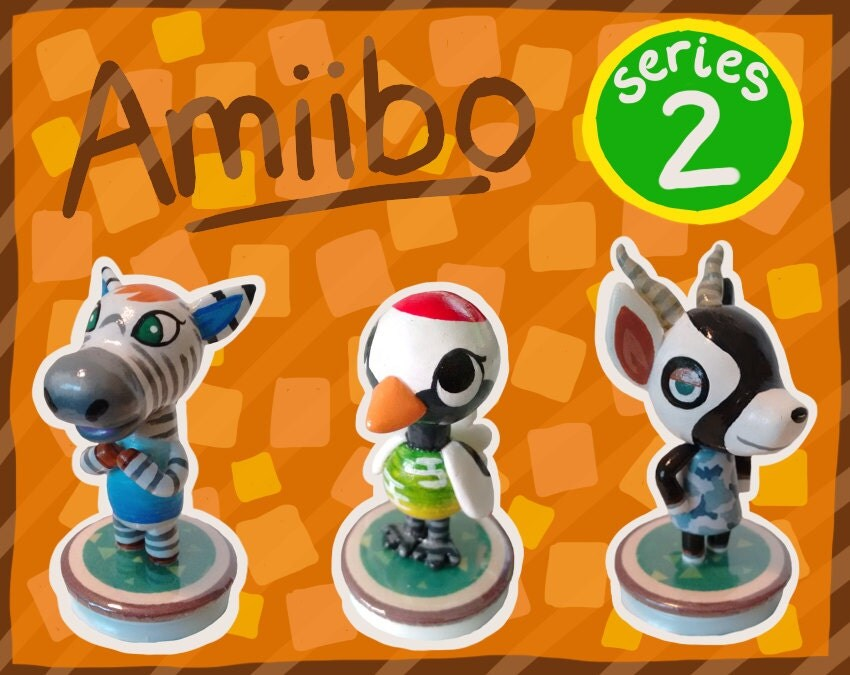 Series 2 animal crossing amiibo figures by shopbhawk on etsy - Happy home designer amiibo figures ...