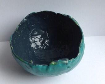 Small paper mâché  bowl