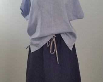 Women's summer wear 100% Linen Boxy Tee