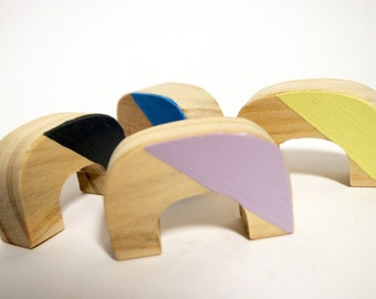 Children's wooden Montessori blocks - Arches