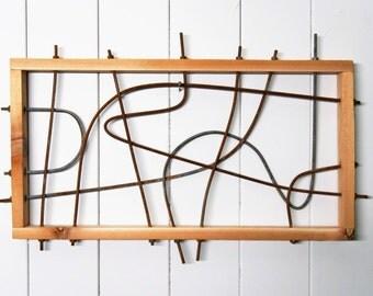 Cedar & Steel Wall Art / Wall Sculpture