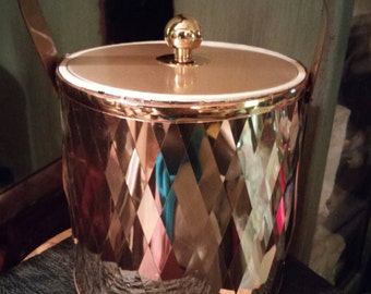 Super Retro George Briard Diamond Cut Gold 3 At Ice Bucket