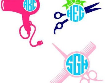 Hairstylist Monogram Decals