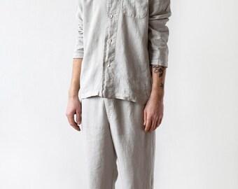 Luxury Mens Linen Pajamas