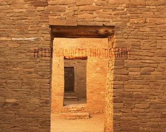 Chaco Canyon Doorways, Chaco Culture, Pueblo Bonita, Ancient Ruins, New Mexico, Architecture Doorway, Pueblo People, American Southwest