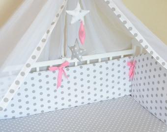 Baby girl bedding set bumper protector