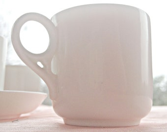 White Espresso Cup Candle - Minimalist Design - Create Your Own Candle