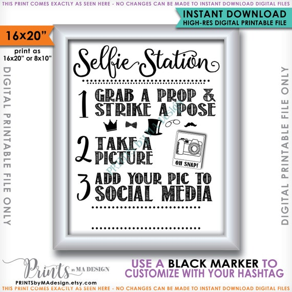 It is an image of Crazy Selfie Station Sign Free Printable