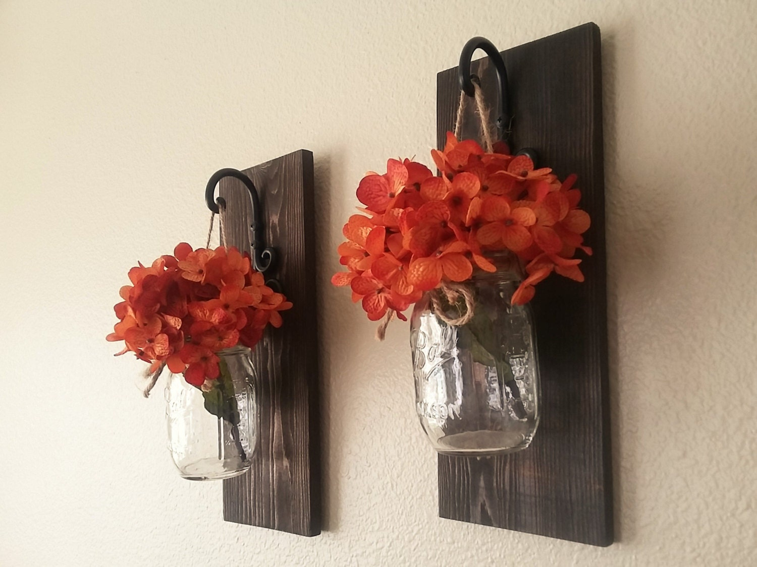 Set of Mason Jar Wall Sconces Mason Jar Sconce Mason Jar