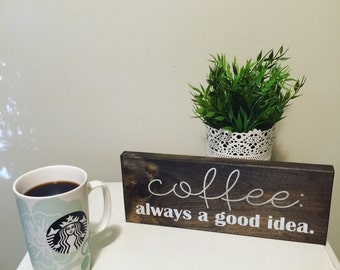 Wooden Sign - Coffee Lovers Sign - Coffee Lover - Coffee Sign - Kitchen Decor