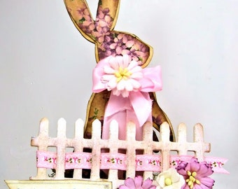 Pink Easter Bunny Centerpiece