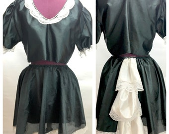 Vtg FRENCH MAID Costume 2-piece One Size Fits All Butt Ruffle