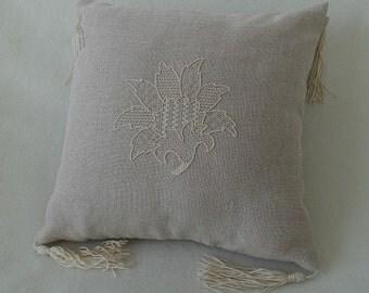 Fallen Leaf (Whitework Embroidery)
