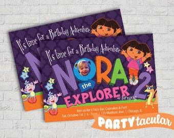 Dora the Explorer Personalized Invitation
